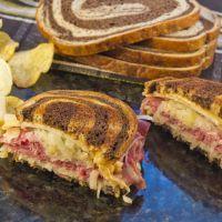 Reuben Sauerkraut Sandwich on Marble Rye Reuben Sandwich, Corned Beef Sandwich, Soup And Sandwich, Sandwich Recipes, Lunch Recipes, Cooking Recipes, Wrap Recipes, Beef Recipes, Easy Recipes
