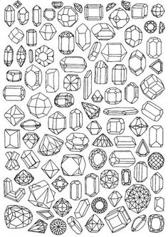 Gem coloring page/printable wrapping paper