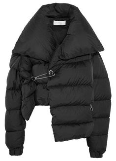 Marques' Almeida Asymmetric quilted shell down jacket (see more collar jackets) Undone Look, Balenciaga, Oversized Jacket, Puffer Jackets, Outerwear Jackets, Down Jackets, Puffer Coats, Women's Jackets, Down Parka
