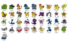 Photo of Pokemon  Machine Embroidery Design -Set of 37