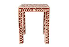 One World    Bone Inlay Low Table