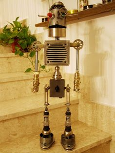 Metal found object robot
