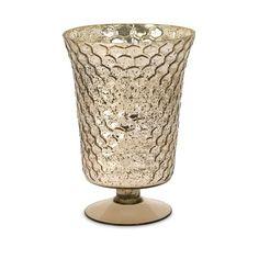 IMAX Chappin Glass Honeycomb Vase