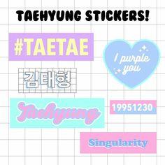 Pop Stickers, Tumblr Stickers, Printable Stickers, Bts Tickets, Tableau Pop Art, Kpop Diy, Bts Merch, Bts Drawings, Journal Stickers