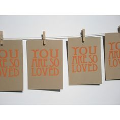 you are so loved ORANGE ON BROWN screen print by jessicagswift