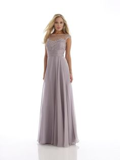 Champagne Tank Top Floor Length Chiffon Princess Mother Of The Bride Dress B2mm0023