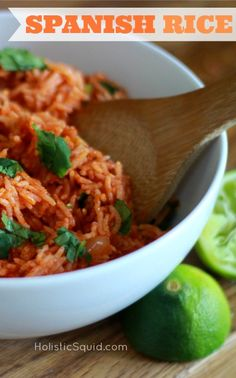 Healthy Homemade Spanish Rice - Holistic Squid