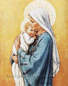 Religious ~ DIY Counted Cross Stitch Pattern The Shepherdess ~ Mary Jesus