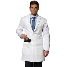 sexy man in a lab coat Healthcare Uniforms, Medical Uniforms, Dr Coats, White Lab Coat, Doctor Costume, Men In Uniform, Mantel, Scrubs, Mens Fashion