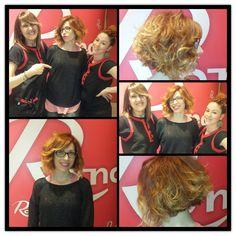 Patricia queria mucha más luz en su cabello, las estilistas Ana y Paloma, lo consiguieron con este precioso Cobrizo  en harmonia con un Balayage.