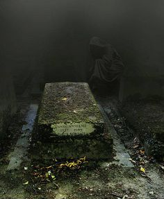 Père Lachaise Cemetery, the largest cemetery in Paris, France. It is   said to be one of the most haunted cemeteries in Europe.