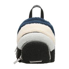 Multicolor leather and wool sloane nano backpack, Three top zips open to  suede-lined compartments, Locker loop and adjustable shoulder straps, ... acea638a7c
