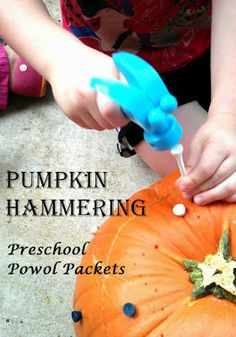 Pumpkin Hammering | We are totally doing this! Just need to get some golf tees.