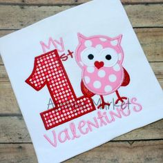 Applique Market has a wonderful selection for all of your holiday custom design needs. Create a festive Valentine's outfit with this my first Valentine number one Applique design.