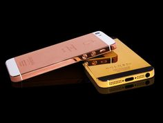 iPhone5, a version of 24 carats gold.