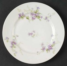 """""""130"""" china pattern with ivory & purple floral accents from Chas Field Haviland."""