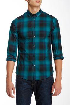 Ben Sherman Ombre Check Button Down Collar Shirt