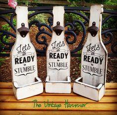 Wood bottle openers wood sign sayings bottle door TheVintageHammer