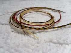 Long Hair Feather Extension Six Hair Feathers Beads by SolDoggie, $14.95