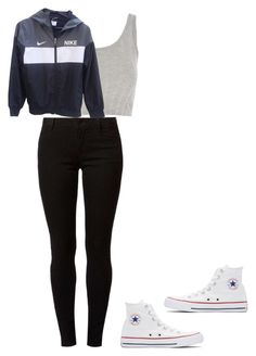 """""""running late"""" by paige-clark1 on Polyvore featuring Topshop, NIKE, Dorothy Perkins and Converse"""