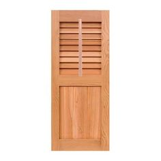 "Shutters By Design Western Cedar Louver Framed Board and Batten Combination Shutter with Faux Tilt Rod Size: 79"" H x 18"" W"
