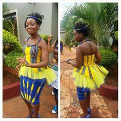Venda culture Venda Traditional Attire, Traditional Outfits, Traditional Wedding, African Dresses For Women, African Attire, African Fashion Dresses, African Print Fashion, Africa Fashion, Seshweshwe Dresses