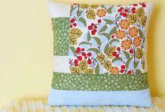 Geometric Block Pillow by Erika Mulvenna #DIY #sewing weallsew.com