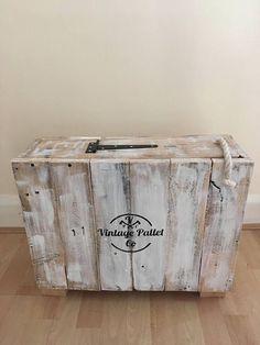 Badezimmer-Aufbewahrungsbox | Rustikaler Shabby Chic | Toilettenpapierhalter | Box | Bauernhaus Dekor zurückgefordert Palettenholz -  - #badezimmerideen