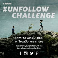 We designed TevaSphere for those who Unfollow. To Unfollow is to live an active life on your own terms, and we want to see how you do it.    Post an image and hashtag #unfollowchallenge for a chance to win CASH to dream up your own Ultimate Unfollow Day!