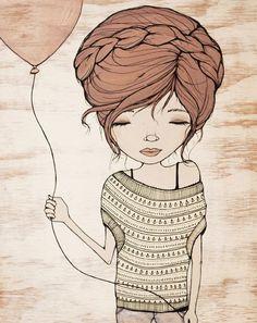 Wishing by Kelli Murray  #drawing