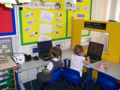 Infant Classroom Design | Reception have their own special ICT area in one of our classrooms.