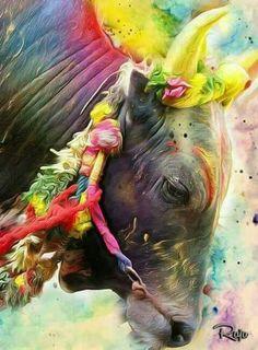 Jalikattu Mahakal Shiva, Shiva Art, Hindu Art, Lord Shiva Hd Images, Lord Vishnu Wallpapers, Angry Lord Shiva, Bulls Wallpaper, Bull Images, Elefante Hindu