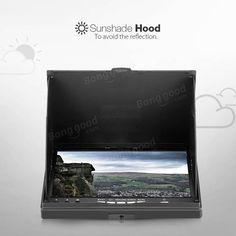 Eachine lcd5802d 5802 5.8 g 40CH monitor de FPV 7 pulgadas con dvr construir-en la batería