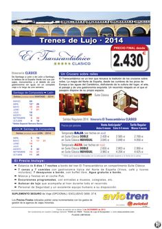 Tren-Crucero EL Transcantábrico Clásico · Temporada 2014 ultimo minuto - http://zocotours.com/tren-crucero-el-transcantabrico-clasico-%c2%b7-temporada-2014-ultimo-minuto/