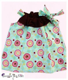 Turquoise Paradise...Girls Pillowcase dress by Snuggle Bug kidz