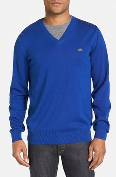 The classic v-neck sweater by Lacoste