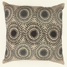 Shop Allen + Roth Medallion Embroidery Decorative Pillow At Loweu0027s Canada.