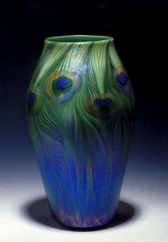 Louis Comfort Tiffany, Tiffany Glass and Decorating Company . Vase, ca. 1900 Favrile glass. The Metropolitan Museum of Art, Gift of Louis Comfort Tiffany Foundation...B, you should see all of the peacock stuff I found on ETSY!