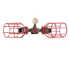 Rouge Cages Pipe Eclairage industriel  Steampunk par HanorManor