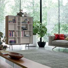 Biblioteca moderna / de madera lacada / de cristal CODE 7  Dall'Agnese Industria Mobili
