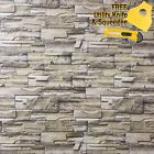 Stone Brick Wallpaper Background Modern Vinyl Film Sticker Wall Self-adhesive