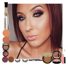 """""""Jaclyn Hill's Ombre Sunset Makeup Look"""" by lovesammi98 ❤ liked on Polyvore featuring beauty, Urban Decay, Ardency Inn, MAC Cosmetics, Anastasia Beverly Hills and Too Faced Cosmetics"""