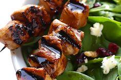 BBQ Brochette de poulet balsamique ultra rapide