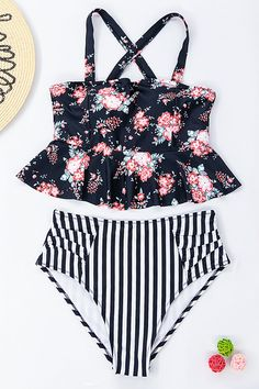 fdccd7367f Beachsissi Life is Funny Printed Two Piece Swimwear Two Piece Swimwear,  Life Humor, Flower