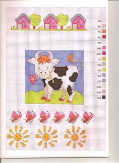 Children's Zodiac Taurus Free Cross Stitch Pattern