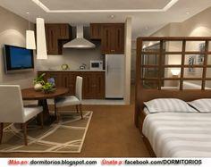 DECORACION MONOAMBIENTE IDEAS : Dormitorios: Fotos de dormitorios Imágenes de habitaciones y recámaras, Diseño y Decoración