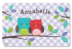 Two sweet, sleepy owls rest on a branch on this adorable children's puzzle. Each x puzzle comes personalized with your child's name. These beautifully illustrated, high quality puzzles are a great way to develop cognitive skills, problem solving, Personalised Placemats, Personalized Books For Kids, Personalized Puzzles, Name Puzzle, Puzzle Books, Puzzles For Kids, Book Gifts, Kid Names, Fine Motor Skills