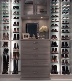 Imagine a closet design that is as unique and stylish as every item it holds. When you work with Inspired Closets, that's exactly the kind of custom boutique closet system you can expect. Organized, functional, and beautiful too! Oklahoma City, Closet Renovation, Custom Closets, Closet System, Closet Designs, Boutique, Deco, Home Organization, New Homes