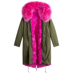 Shop AS65 Parka Coat with Fur Lining in green at Modalist |... ($3,004) ❤ liked on Polyvore featuring outerwear, coats, green parkas, fur lined parka coat, green parka coat, green coat and parka coats