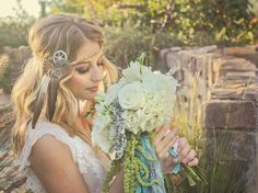 Love our boho bride! Artisan Wedding Photography. Styling, Decor: @quaintink   Hair: @astylesosweet   Model: @alexandrialeary   Photo: @rontanphotography @faze_3 Model: @saideebug   Cake, Dessert, Styling: @batterupcakery   Model: @berlyndunning   Guitar: @brianwolfe   Model: @brittanylazar Guest Book: The Visual Book   Florals: @cultivatemoonflowers   Makeup: @idomakeupandhair   Bridal Dresses: @enchantedbridalshoppe   Coordination, Officiant, Silk Ribbons: @tanweddingsandevents   Paperie…